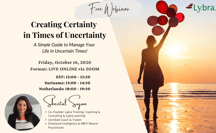 WEBINAR Creating Certainty in Times of Uncretainty